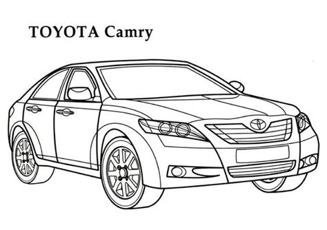 coloring pages toyota cars toyota camry car coloring page coloring pages