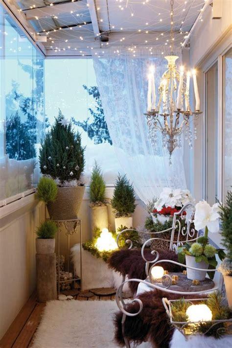 terrasse winterlich dekorieren 40 neue ideen f 252 r balkon dekoration archzine net