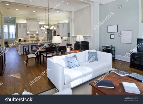 open floor plan studio apartment luxury studio apartment open floorplan design stock photo