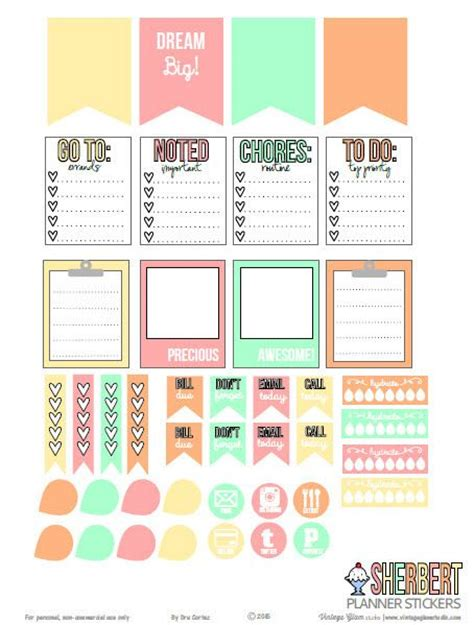 how to use printable planner stickers sherbert planner stickers free printable download for