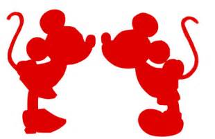debs designs mickey and minnie mouse silhouette svg