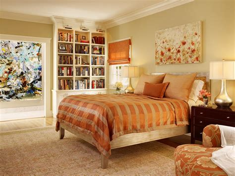 orange bedroom photos hgtv
