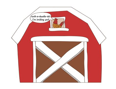 granero dress code print the picture of the barn on to firm card stock thin