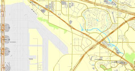 texas vector map vector map dallas tx us cityplan 3mx3m ai pdf 15