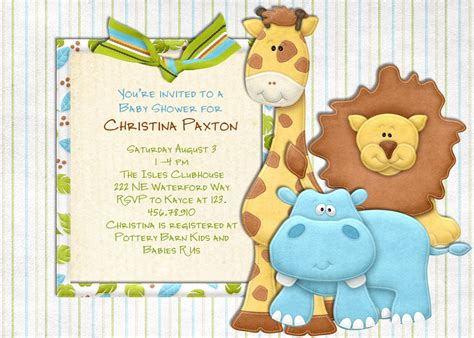 jungle baby shower invitations template best template