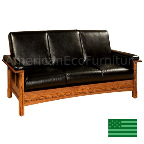 Couches Made In Usa by Amish Sofa Solid Wood Made In Usa American