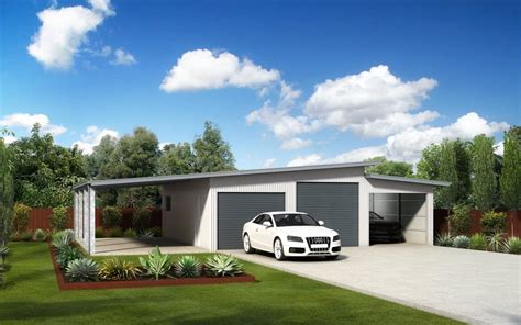 Single Garage With Awning by Skillion Roof Sheds And Garages Ranbuild
