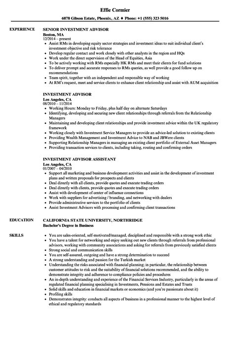 Investment Advisor Resume Sles Velvet Jobs Investment Advisor Compliance Manual Template