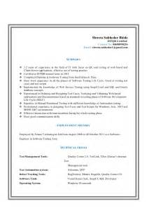 Database Tester Sle Resume by Database Testing Qa Resume