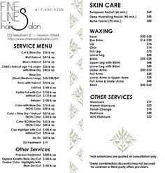 Barbers Cosmetologists Hairdressers Hairstylists Skin Care Specialists by Hair Stylist Or Barber Services Menu Salon Price List