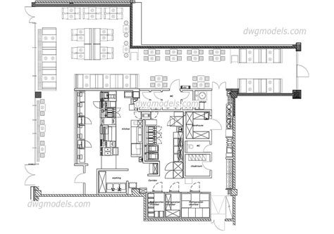 layout restaurant dwg fast food restaurant dwg free cad blocks download