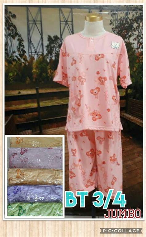Baju Tidur Surabaya kulakan baju tidur katun 3 4 jumbo dewasa murah surabaya 28ribu peluang usaha grosir baju anak