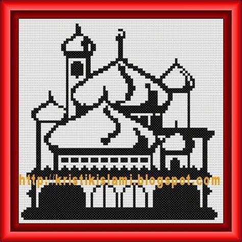 Kristik Pola Kain Ter Murah Cross Stitch 5 kristik islami pola kristik gratis masjid