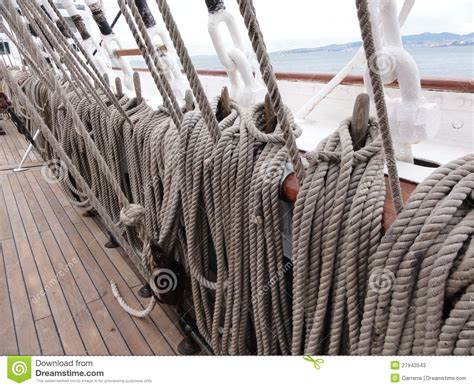 String Ship - ship rope stock image image of boat rope deck