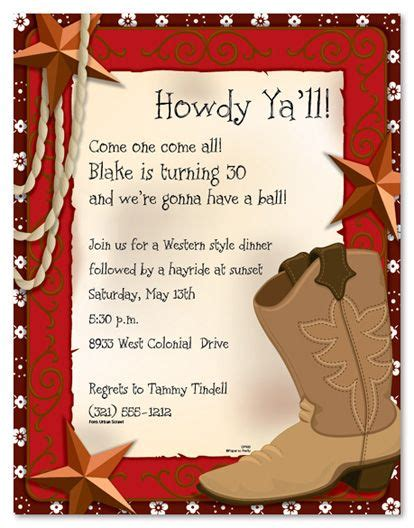 free western invitation templates west boot invitations western theme
