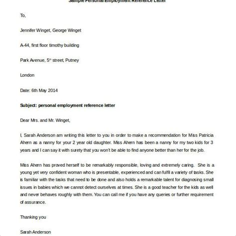 job reference letter 7 free samples examples formats