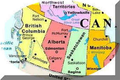 maps of western canada western canada regional map