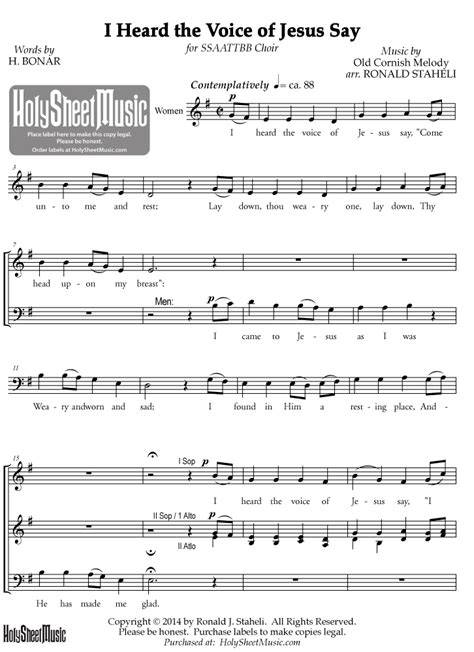 house music i heard you say ronald staheli archives holy sheet music