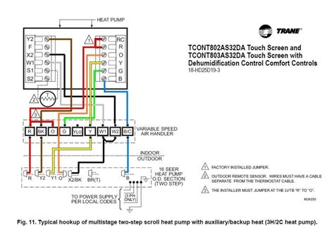 trane thermostat wiring diagram wiring diagram and