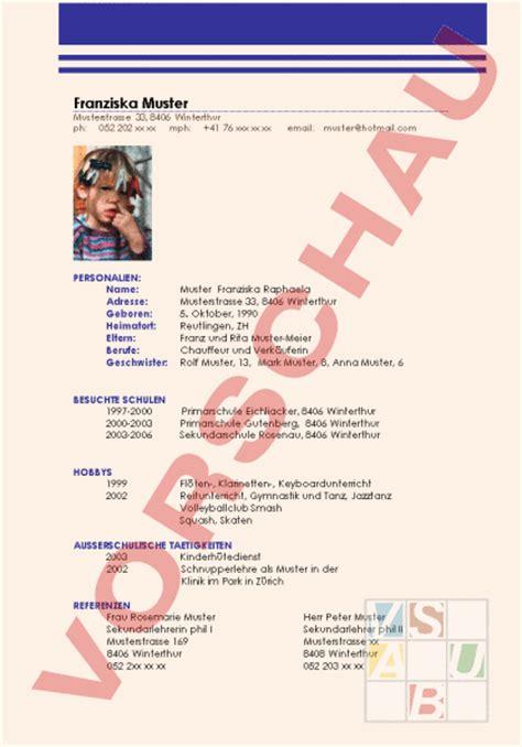 Lebenslauf Unterrichtsmaterial Www Unterrichtsmaterial Ch Anderes Thema Lebenslauf Arbeitsbl 228 Tter
