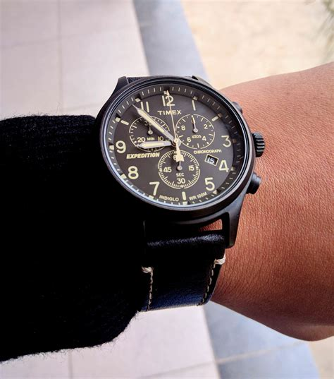 Expedition E6318 Black Leather timex best 50 i ve spent timex expedition scout