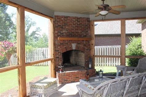 Porch Fireplace by Outdoor Fireplace Birmingham Al Birmingham Landscaping