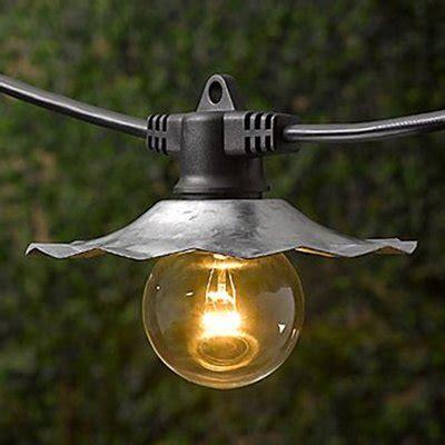 restoration hardware string lights restoration hardware industrial light string metal nib