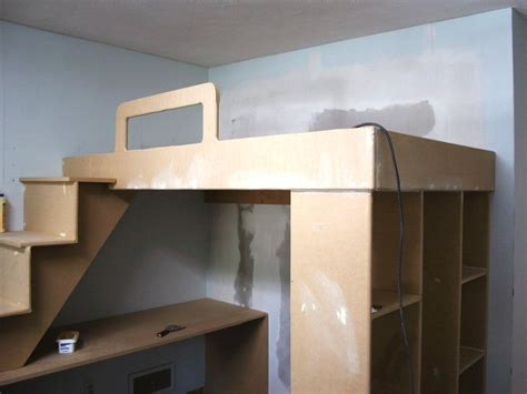 elevated bed frame plans how to build a loft bed with a desk underneath hgtv