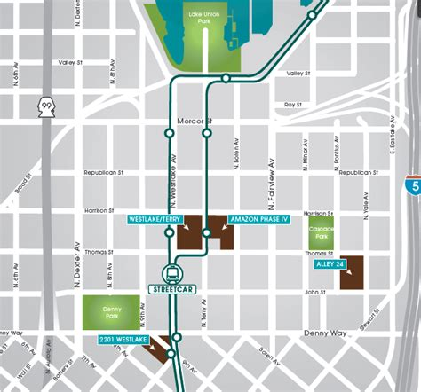 seattle map lake union vulcan offers 2 parking in south lake union seattlepi
