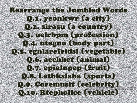 5 Letter Jumbled Words rearrange these jumbled words bhavinionline