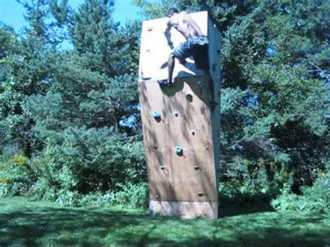 rock climbing wall for backyard climbing backyard rock wall youtube