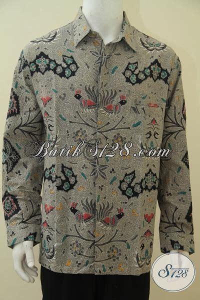 desain baju batik buat orang gemuk pakaian batik pria gemuk desain formal cocok buat baju
