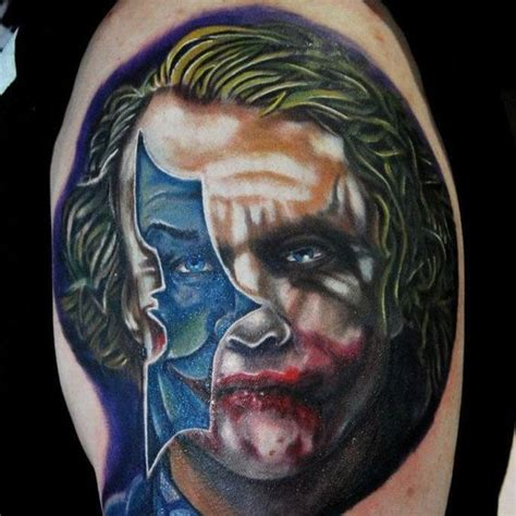 batman tattoo on face crazy rad batman tattoo by justin buduo the face inside