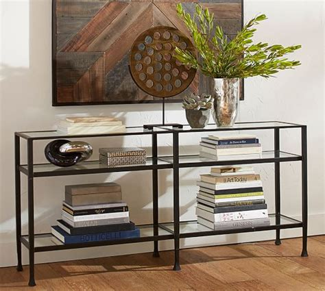 pottery barn console table console table bronze finish pottery barn