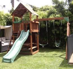 refurbished backyard adventures play set swingsetsolutions com