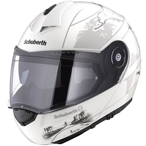 Helm Schuberth C3 Pro Modular White Size M L T0310 1 schuberth c3 pro america womens helmet modular