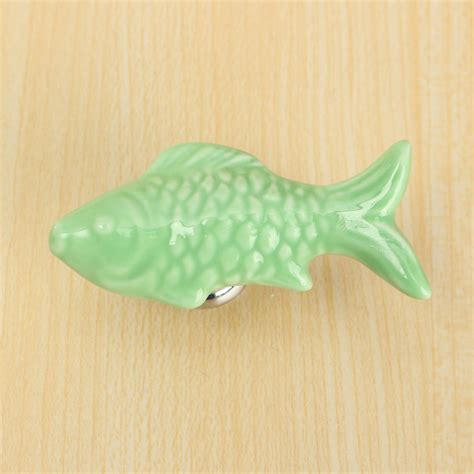 Fish Drawer Pulls by Retro Fish Ceramic Door Knob Children Room Cupboard
