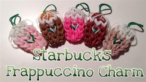 Rainbow Loom Starbucks Iced Coffee Strawberry Frappuccino Frappe Charm   YouTube