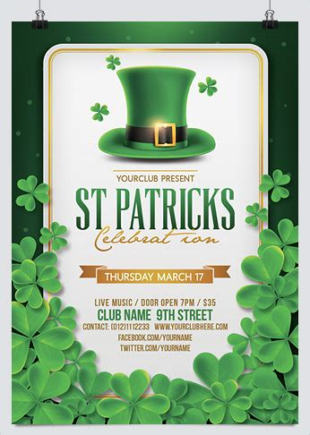 st patrick s day flyer template by designroom1229 graphicriver