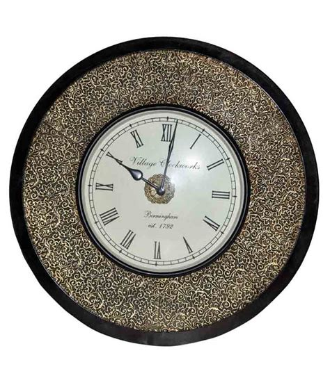 buy lal haveli wooden wall clock living room online at low lal haveli circular analog wall clock wooden wall clock 30