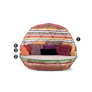 banquette lit moroso tropicalia day bed design