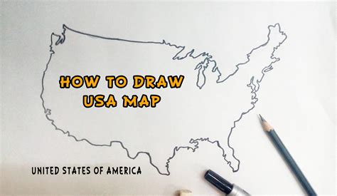 america map sketch how to draw united states of america usa map