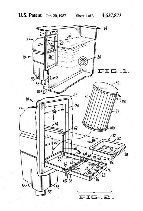 thermospa parts diagram patent us4637873 front load skimmer filter for spas and