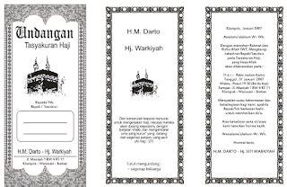 tutorial umroh lengkap contoh undangan syukuran kepulangan haji harga undangan