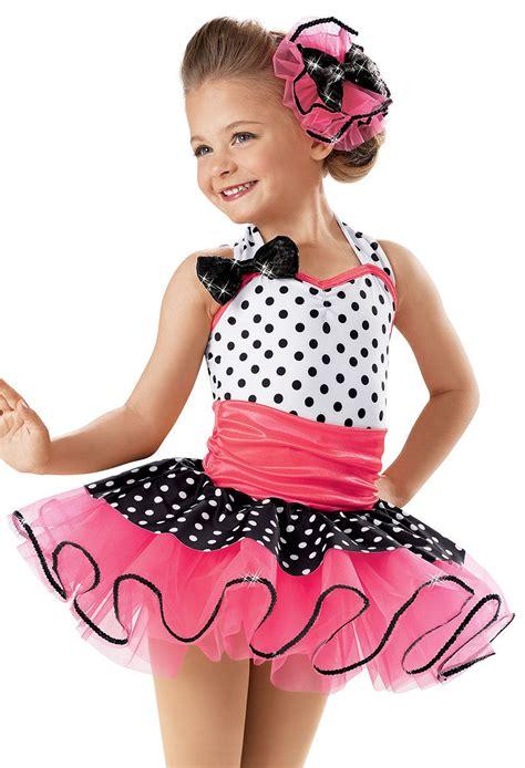 Dress Kid Ursula Polka halter polka dot recital dress weissman costumes rock around the clock