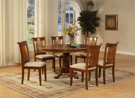 7 pc oval dinette dining portland 7 pc oval dinette dining table set 42 quot x60 quot in saddle brown finish sku p7 sbr c