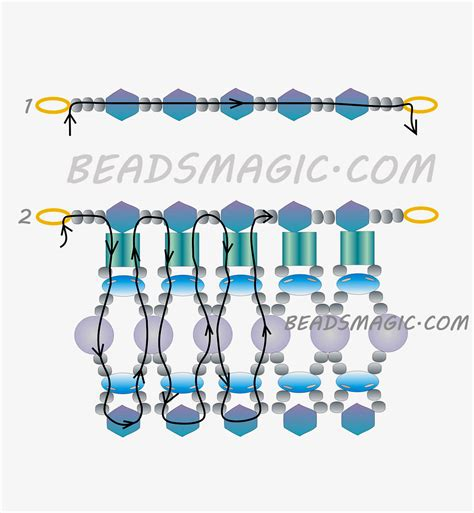 pattern magic tutorial free pattern for necklace winter soul beads magic