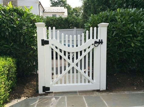 white wooden gate white wooden fence
