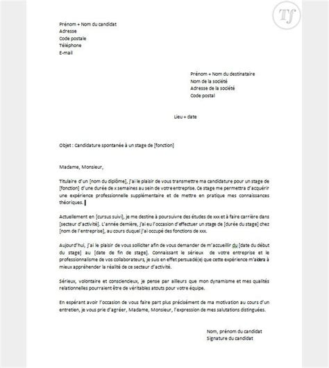 Lettre De Motivation Candidature Spontan E Ratp candidature spontan e gratuite