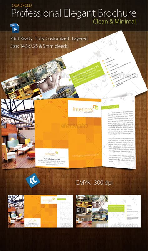 print template graphicriver quad fold brochure 127646